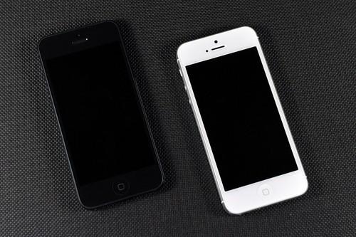 苹果5黑白壁纸图片