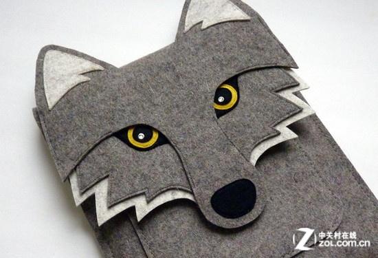 卡通狼造型的ipad背包图片欣赏