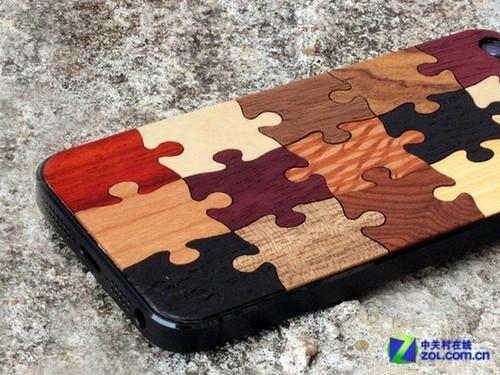 木质拼图图案iphone背贴