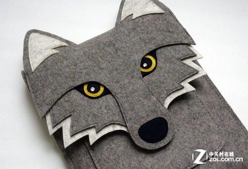 卡通狼造型的ipad背包