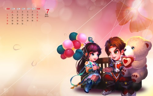 《梦幻诛仙2》2013年精美月历壁纸首曝