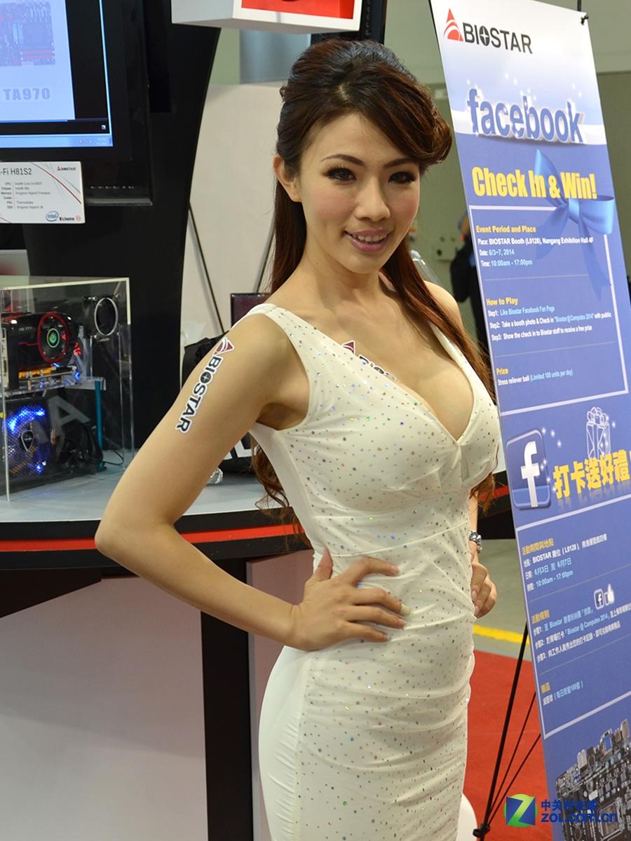 Computex 2014 诱惑嫩模图集大放送的照片 - 46