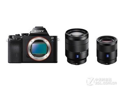 索尼 A7S套机(FE 24-70mm,FE 55mm)BIONZ X影像处理器,全画幅微单,XAVC S格式录制,