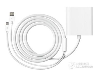 苹果 Mini DisplayPort至双连接 DVI转接器苹果原装配件 连接多台带DVI接口的显示器用的