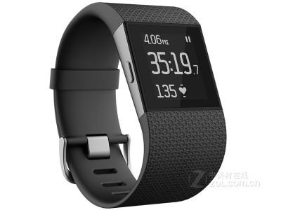 Fitbit Surge 智能乐活手环 GPS全球定位 心率实时检测 手机音乐操控 智能手表全能王 黑色L