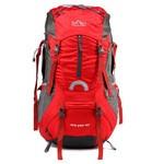 攀跃户外专业登山包男女旅行双肩背包女正品背囊60L 登山包红色