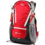 攀跃户外背包新款双肩包韩版男女休闲旅行户外运动包容量35L 专业登山包红色