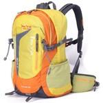 攀跃新款户外背包双肩超轻防水背包 出行必备驴友徒步登山包 亮黄