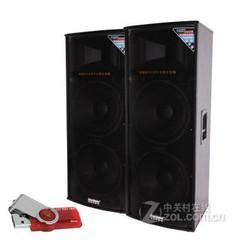 特美声Temeisheng 128T成对220V户外舞台音响移动广场大功率音箱 黑色