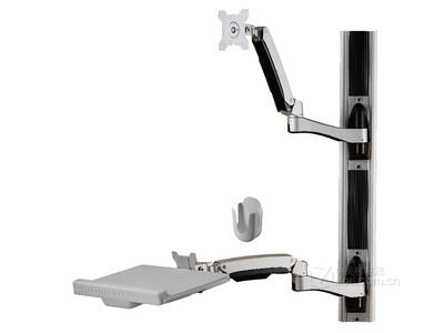 TOPSKYS 双臂旋转伸缩液晶显示器支架键盘托工作台壁挂架W8822