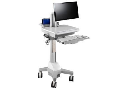 TOPSKYS 单屏悬臂显示器一体机支架医疗移动推车医用护理车CNR01