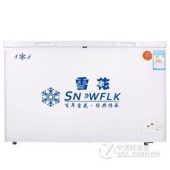 雪花(SNOWFLK)BCD-270 270升 冷藏冷冻双温冷柜 家用卧式商用冰柜 白色
