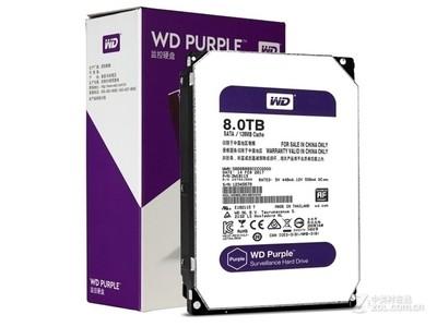 西部数据 紫盘8TB/5400转/128MB(WD80EJRX)