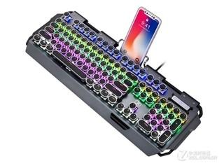 新盟x10曼巴狂蛇复古朋克旗舰升级版键盘(黑轴)