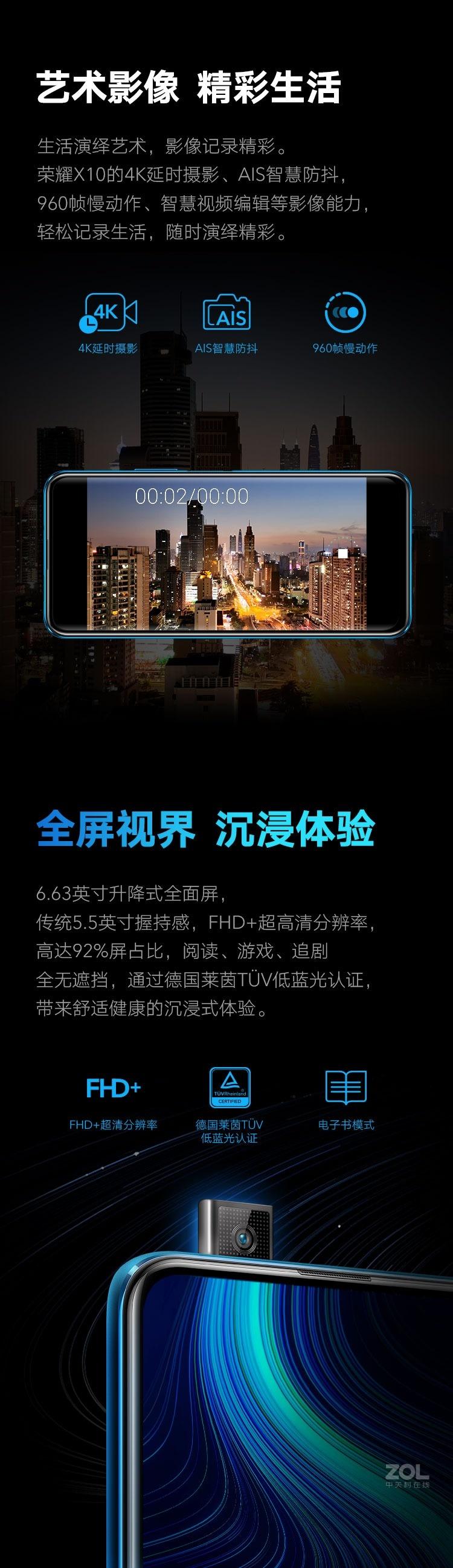 荣耀X10(6GB/128GB/全网通/5G版)评测图解产品亮点图片6