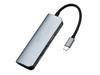 雷柏XD120 USB-C 6口扩展坞分线转换器