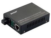一舟10/100/1000M多模单纤光纤收发器内置电源SSB1000-1-X