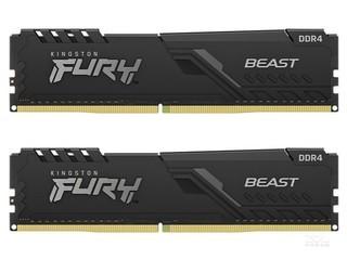 金士顿FURY Beast 64GB(2×32GB)DDR4 3200(KF432C16BBK2/64)