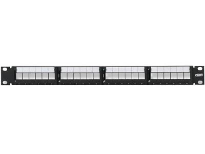 AMP 24口屏蔽配线空架(高度1U)/336526-1