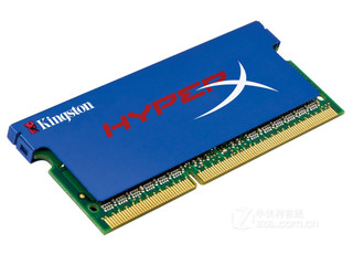 金士顿4GB DDR3 1600 骇客神条 笔记本套装(KHX1600C9S3K2/4GX)