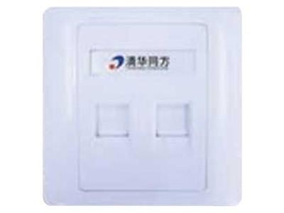 清华同方 墙上型双孔面板(平口)(CF8602)